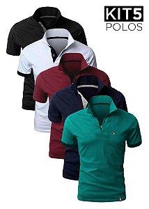Kit 5 Camisas Polo – XK213