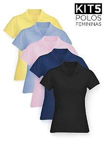 Kit 5 Polos Femininas - K5-F-XK01