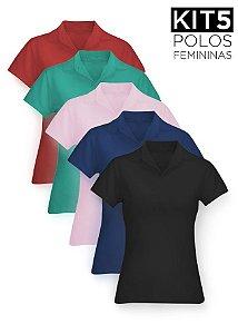 Kit 5 Polos Femininas - K5-F-XK02