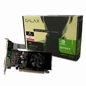 Placa de Vídeo NVIDIA GeForce Galax 210 1GB DDR3 64BIT HDMI, DVI, VGA