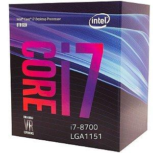 Processador Intel Core i7-8700 3.2GHz (4.6GHz Turbo Max) 12MB LGA 1151
