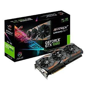 Placa de Vídeo NVIDIA GeForce Asus ROG Strix GTX 1080 8GB GDDR5X 2x HDMI 1x DVI-D 2x DP