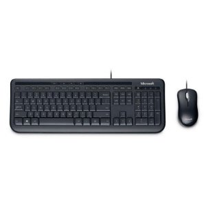 Kit Teclado e Mouse Microsoft Wired 600 Preto APB-00005