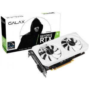 Placa de Vídeo NVIDIA GeForce Galax RTX 2060 6GB OC White GDDR6 192BIT HDMI, DVI-D, DP