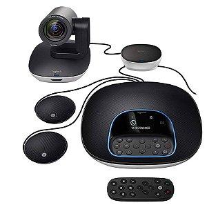 Sistema de Videoconferência Logitech Group Com Microfones de Expansão