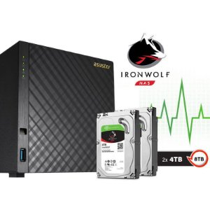 Storage NAS Asustor 4 Baias AS3104T8000 Celeron Dual Core 1,6 GHz - 8TB