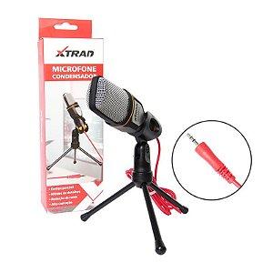 Microfone Condensador XTRAD CH0803 Com Tripé