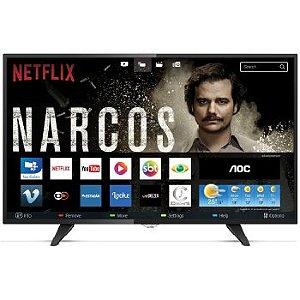 TV 43 POLEGADAS AOC LED SMART WIFI FULL HD USB HDMI - LE43S5970