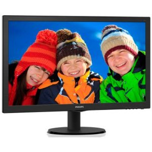 MONITOR LED PHILIPS 23.6 POLEGADAS HDMI SPEAKER 243V5QHAB  - 243V5QHABA