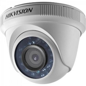 Camera Dome HDTVI 2,8mm 10M 2MP 720P Plastico DS-2CE5AD0T-IRP Branca HIKVISION