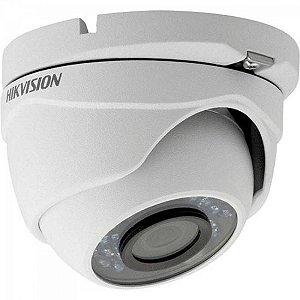 Camera Dome HDTVI 2,8mm 20M 2MP 1080P IP66 Plastico DS-2CE56D0T-IRP Branca HIKVISION