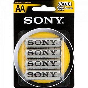 Pilha Zinco AA UM3-NUB4A Sony Caixa c/48 pilhas (cartela c/4) - BLI / 48