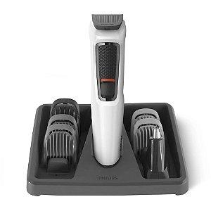 Maquina Cortar Pelo Aparar Barba Cabelo Bateria Branca