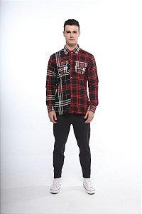 camisa xadrez patch