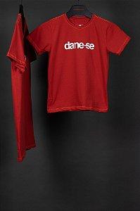 camiseta dane-se lívia kids vermelho