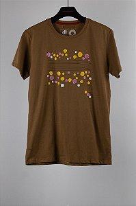 camiseta ipês marrom