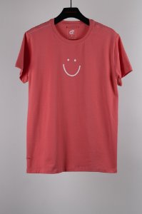 camiseta continue sorrindo out. rosa