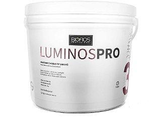 Banho De Verniz LUMINOS PRO Choque Brilho Extremo Hidratação Profunda 2,2Kg Biofios Profissional