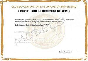 Registro de Afixo (Canil)