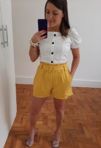 Shorts Clochard Amarelo