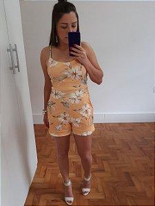 Macaquinhos Florais - Amarelo | Branco