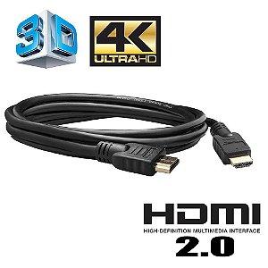 Cabo HDMI 2.0 Ultra HD 4K 3D Dupla Blindagem CB Cables - 1,8 Metros