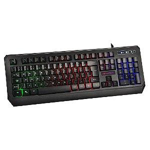 Teclado Multimídia Gamer KG-50BK C3 Tech