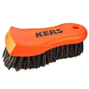 Escova para limpeza de Couro Ultra Soft Cerdas Naturais Kers