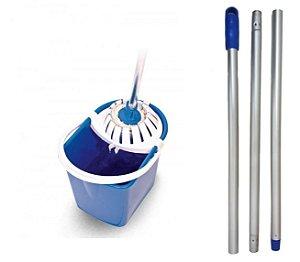 Conjunto Mopinho Azul - Bralimpia Limpeza De Pisos 12 Litros