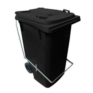 Coletor / Lixeira Gari 120 Litro Com Rodas E Pedal Bralimpia