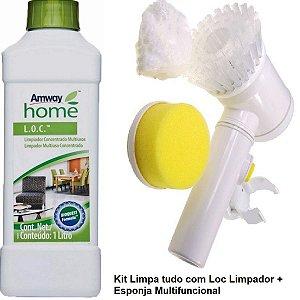 Super Kit Limpeza Rapida Loc Limpador Multiuso E Escova Show