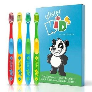 Escovas De Dentes Para Crianças Glister Kids Amway Kit C/ 4