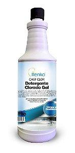Detergente Clorado Gel Chef Clor Renko 1L limpa e desinfeta