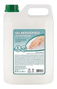 Álcool Gel Antisséptico Hidratante 5 Litros Premisse Mãos - Certificado Anvisa Alta Qualidade Não mela