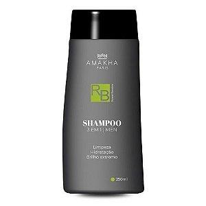 Shampoo 3x1 Men 250 Ml Amakha Paris - O Melhor Preço