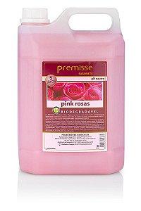 Sabonete Liquido Pink Rosas 5L Para Mãos Banho Premisse