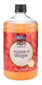 Sabonete Deoline Pêssego E Damasco P/ Higiene Com 1 Litro
