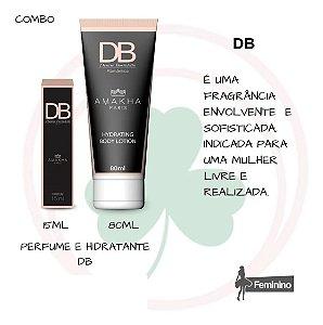 Combo Perfume 15ml + Hidratante 80ml Db Denise Borto Amakha