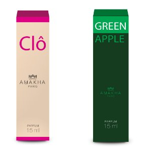 Perfume Green Apple Fem + Clô Feminino Amakha Paris 15 ml ++