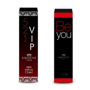Perfume Masculino Vip Men + Feminino Be You Amakha Paris +++
