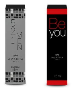 Perfume Masculino 521 Men + Feminino Be You Amakha Paris +++