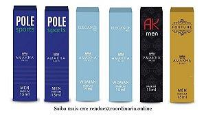 Kit 6 Parfum 2 Light Blue + 2 Pole Sports + Ak Men + Fortune