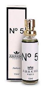 Kit 5 Und Perfume Nº 5 Amakha Paris Chanel Original N5 15ml Perfume Eau De Parfum Inspiração Na Grife Marcas De Luxo