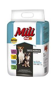 Tapete Higiênico para Cães Mili Dog 60 x 60 cm 30 Unidades