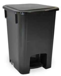 Coletor De Lixo Com Pedal 15 Litros Resistente Bralimpia