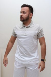 Polo Jacquard degradê