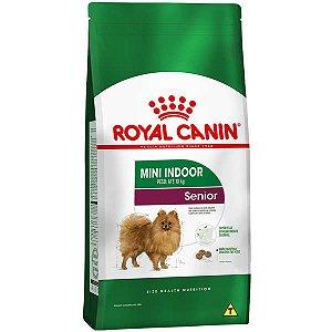 Ração Royal Canin Mini Indoor Senior para Cães com 8 Anos ou mais