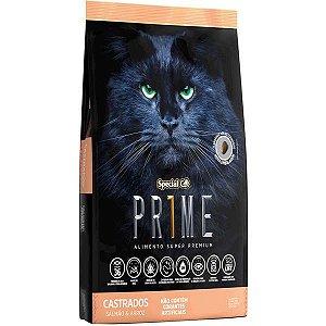 Ração Special Cat Prime Salmão e Arroz para Gatos Adultos Castrados 3 kg