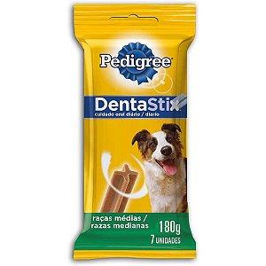 Petisco Pedigree Dentastix para Cães Adultos Raças Médias - 7 Unidades