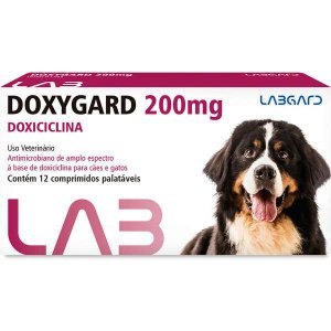 Antimicrobiano Labgard Doxygard 200 mg para Cães de Raças Grandes